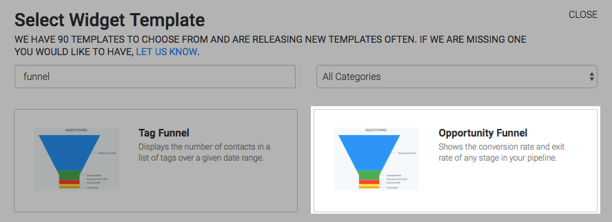 search for the opportunity funnel.