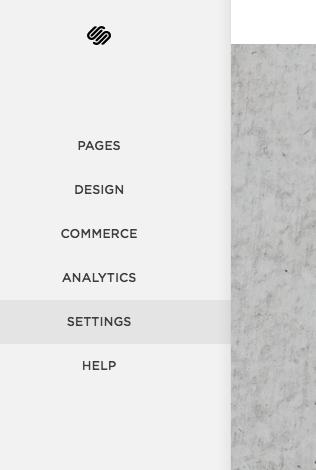 click settings from the menu