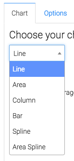 Select the display type you want for the report.