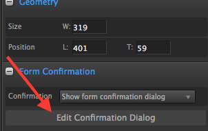 Arrow pointing to Edit Confirmation dialog.