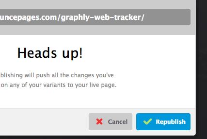 Click republish button again.