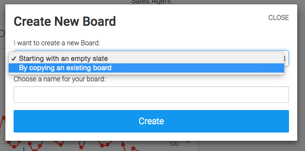 select by copying an existing board from the drop down