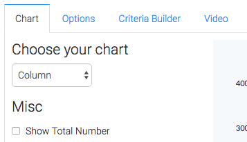 select the chart type from the drop-down