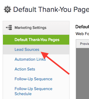 "Then click ""Lead Sources"" on the sidebar. This is for the Graphly Web Tracker"