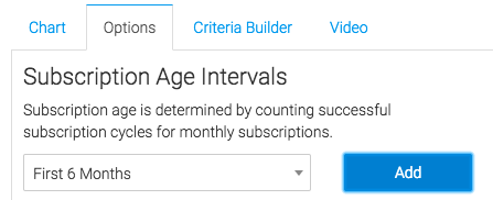 select the age intervals you would like to display