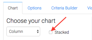 Checking this box will stack the data.