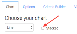 Arrow pointing to stacked checkbox.