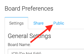 """Click the """"Public"""" tab and then click the """"+"""" button to create a new public URL. This URL can be given to anyone who you would like to have see a dashboard. Anyone using the public URL can't change or see specific contacts in the data."""