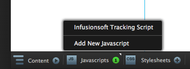 Javascripts button clicked.