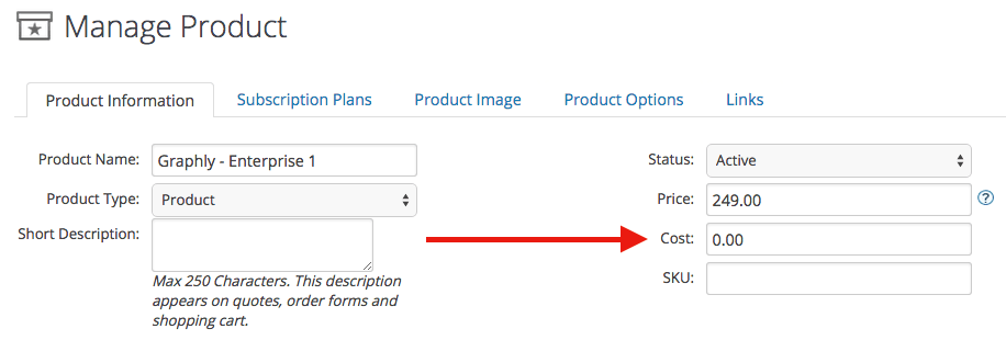 "Make sure that you have set a value for the ""Cost"" field in each of your products. You can find it under Product Information when you manage your products."