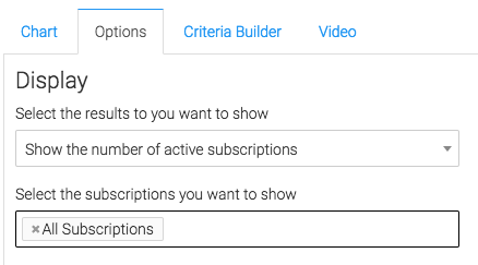 "Now navigate to the ""Options"" tab, then select the results and subscriptions you would like to show."