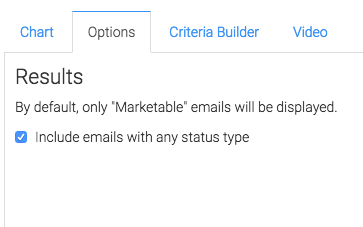 you can check this box to include emails of any status type