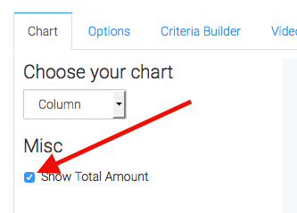 check the box to display the total in the top right of the report