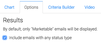 Check this box to display emails with any status type.