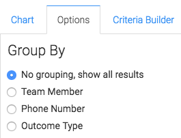 Select how you want the results grouped.