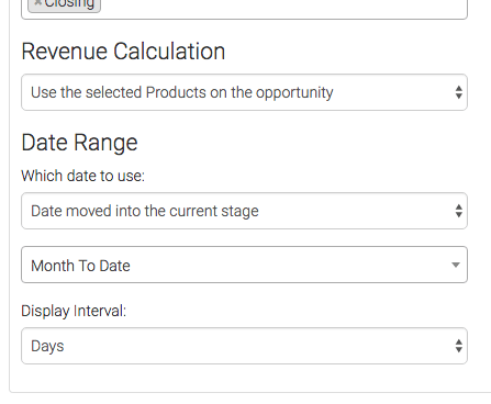 Next, you can choose how you want your revenue to be calculated and you will also need to select a date range for the data.