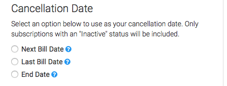 Select the cancellation date you would like to use.
