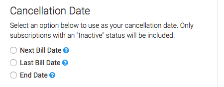 select the date you want to use for the cancellation date