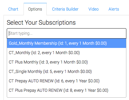 Select the subscriptions you want to track.
