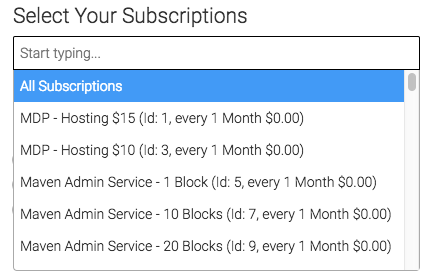 select the subscriptions you want to track