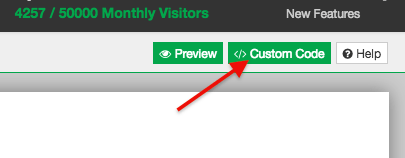 click the green custom code button in the top right