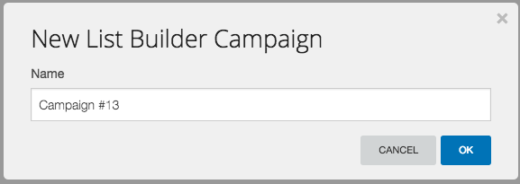 "Once the option comes up, name the campaign and then click ""Ok""."