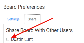Mark the checkbox next to each user that you want to share a dashboard with.