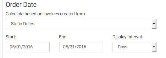 Then choose your the date that you would like to base your invoice calculations off of.