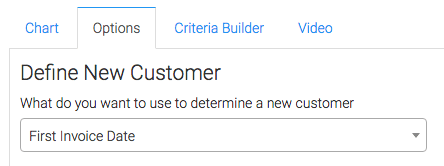 Select how you want to define what a new customer is.