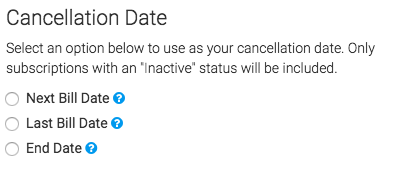 select the cancelation date.