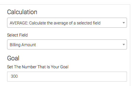 Then choose your calculation settings and your goal for your Subscription Counter.