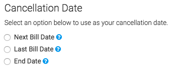 And finally, we can select our cancelation date for subscription duration.