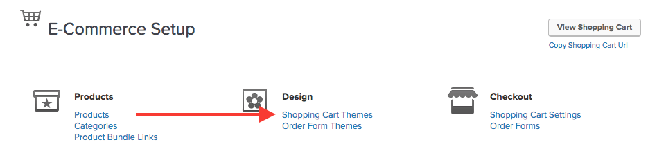 From there, get to the Shopping Cart Theme you wish to add the tracking script to.