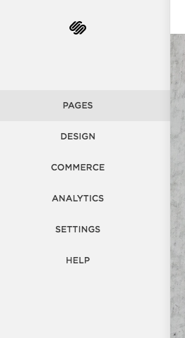 select pages from the menu