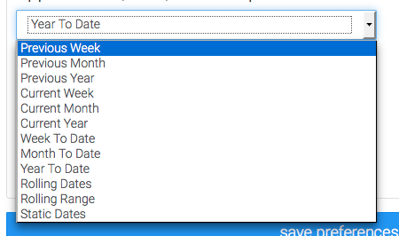 select the date range you wish to track
