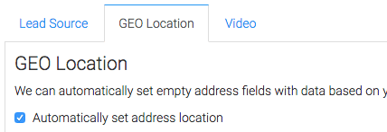 You can also set GEO location automatically