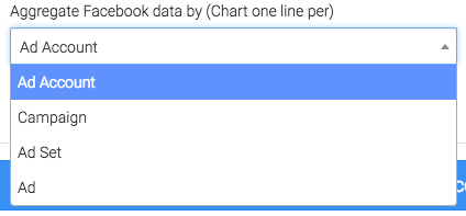 Options to aggregate the data.