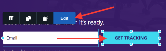 Click on your Form submit button and click edit