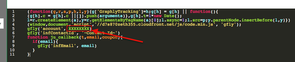 paste the tracking script form the article into the code box and replace the x's for the account number