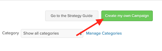 """Log into Infusionsoft and navigate to the Campaign Builder section. Then click """"Create my own Campaign"""". For the looping needed for dashboard emails."""