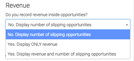 Select if/how you record revenue for opportunities.