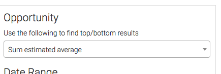 select how you want the results to be calculated