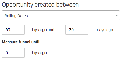 select the date range for the opportunity being created