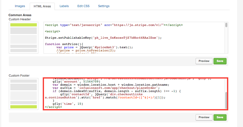 You can paste the script into either the Custom Header or Footer box. It's good to do it in the Footer after any code related to the design or content of the shopping cart.