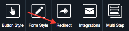 Now click on Redirect at the top