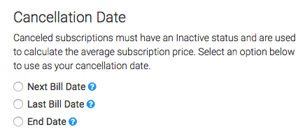 Choose between three options on your cancelation date