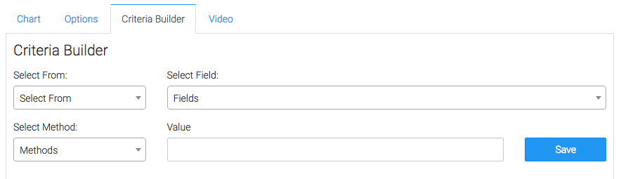 Criteria Builder Tab options displayed.