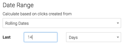 select the date range to display