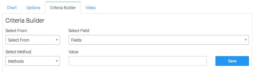 Criteria Builder tab options.