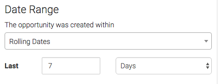 select the date range you want to display